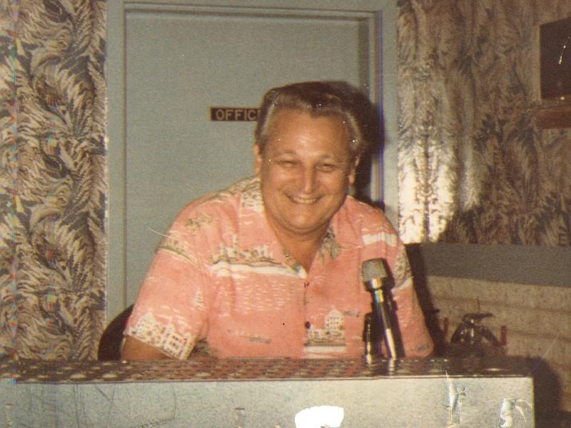 a man calling bingo numbers