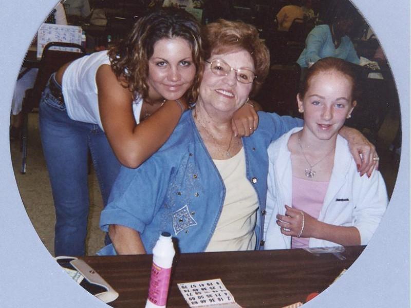 three bingo players smile