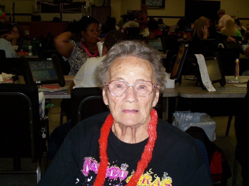 woman with lei on
