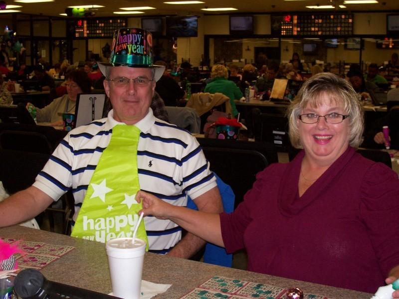 two new years eve bingo players