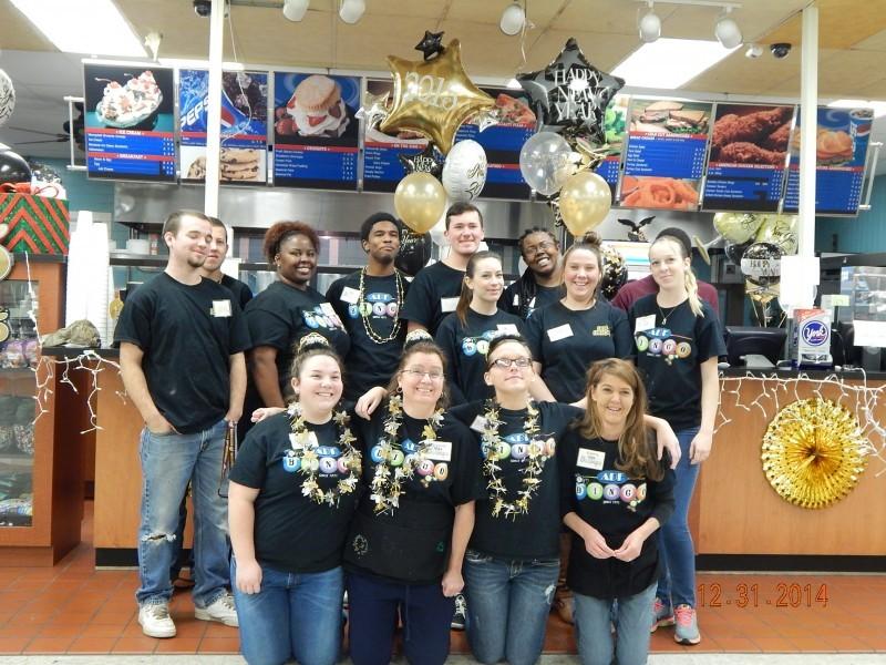 bingo restaurant crew pose