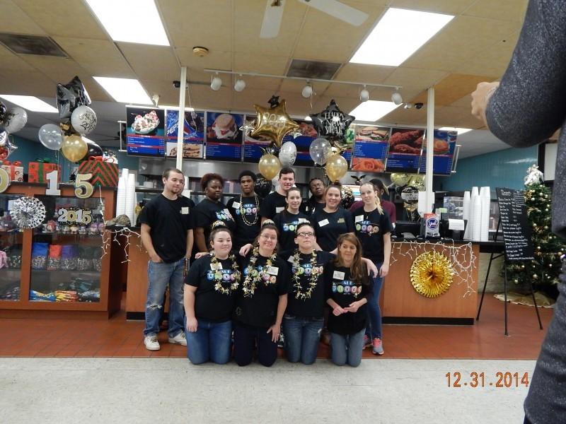 bingo restaurant staff pose