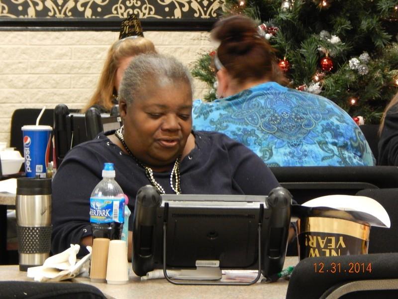 woman stares at bingo cards