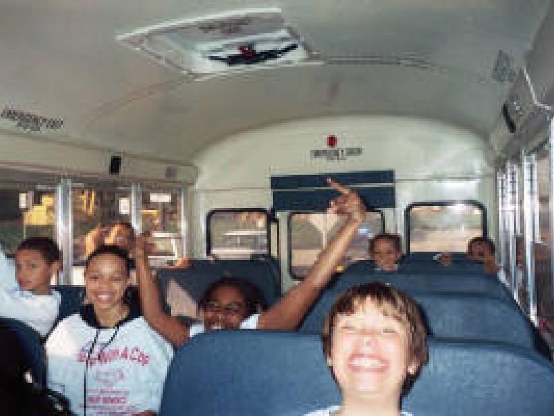 kids on a schoolbus