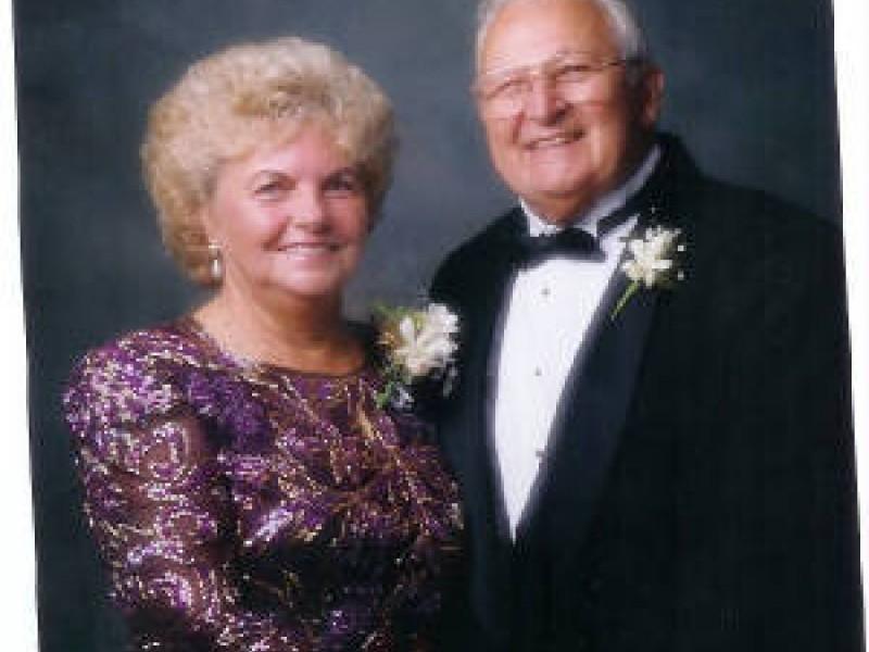 a portrait of an older couple