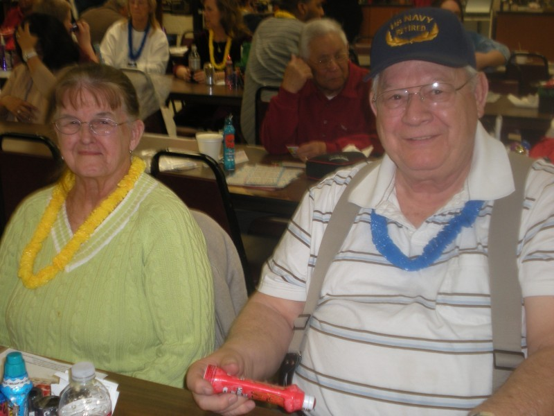 man and woman relax at bingo
